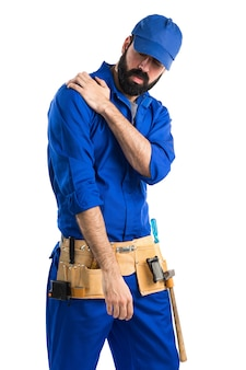 Plumber with shoulder pain