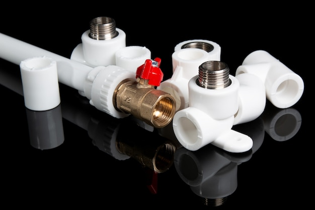 Plumbing fittings for plastic pvc pipes and plumbing gate ball vales