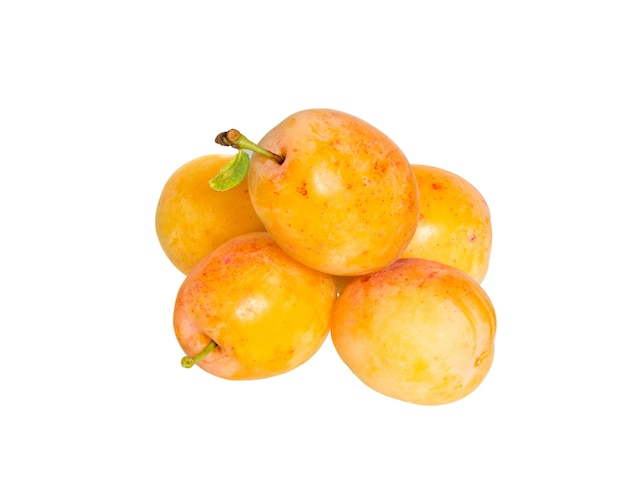 Plums isolated on white surface