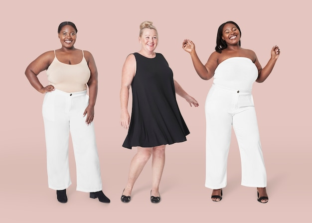 Plus size model clothing apparel