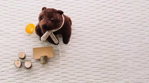 Plush bear and blank tag