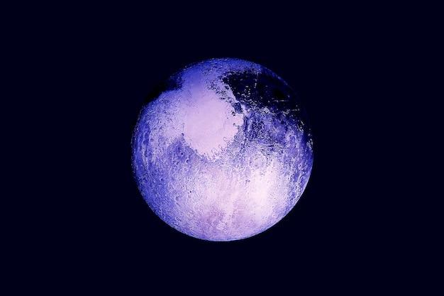 Плутон в ультрафиолетовом свете. элементы этого изображения были предоставлены наса. для любых целей.