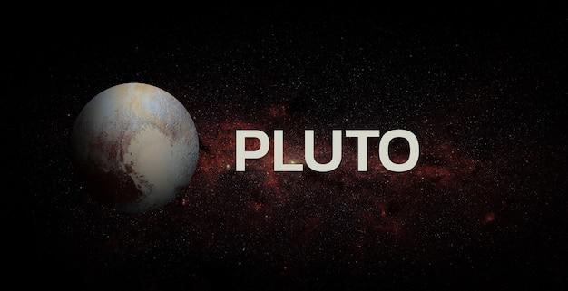 Плутон на космическом фоне. элементы этого изображения предоставлены наса.
