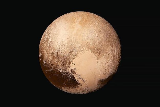レンズフレアのある冥王星の惑星暗い背景にこの画像の要素はnasaによって提供されました