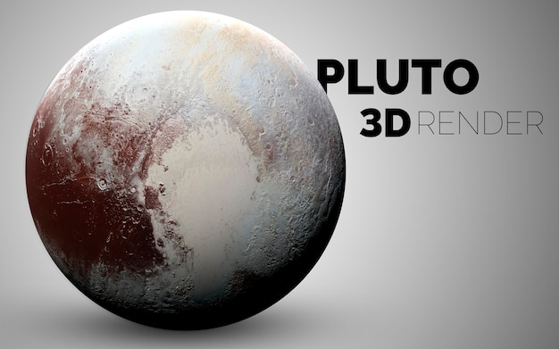 Pluto. set of solar system planets rendered in 3d. elements of this image furnished by nasa