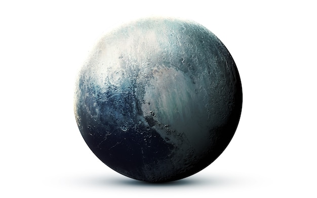 Pluto in the space, 3d illustration.