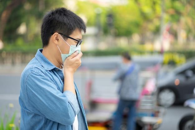 Красавец в маске для лица защитит фильтр от загрязнения воздуха (pm2.5) или наденет маску n95. защищать