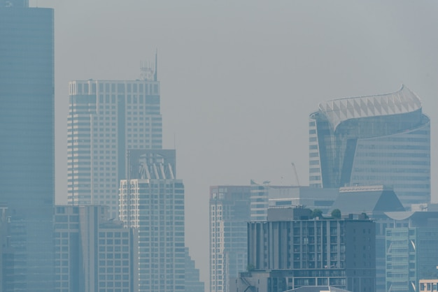 Смога pm2.5 пыли превышает стандартное значение бангкока