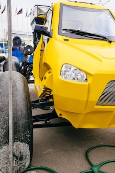 농업용 공압 차량.