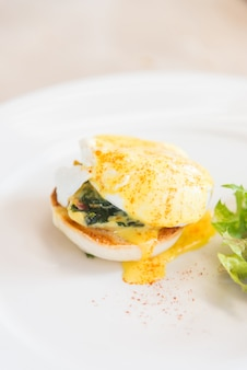 Poached background muffin delicious egg