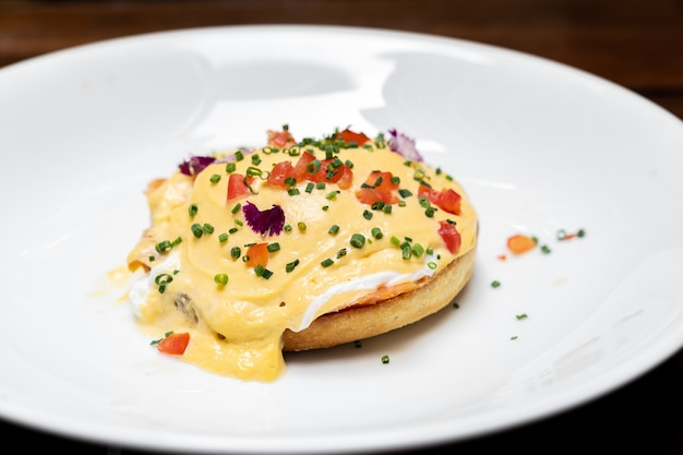 Poached egg salmon