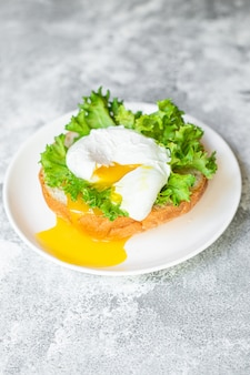 Poached egg sandwich delicious snack