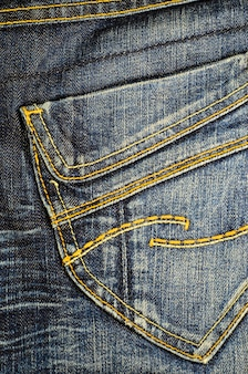 Pocket of the blue jeans.  fabric background