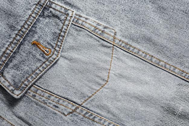 Pocket of a denim jacket