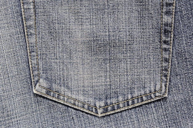 Pocket of denim jeans