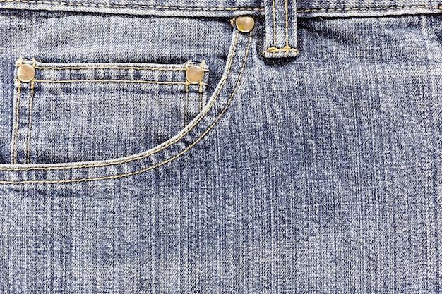 Pocket of denim jeans