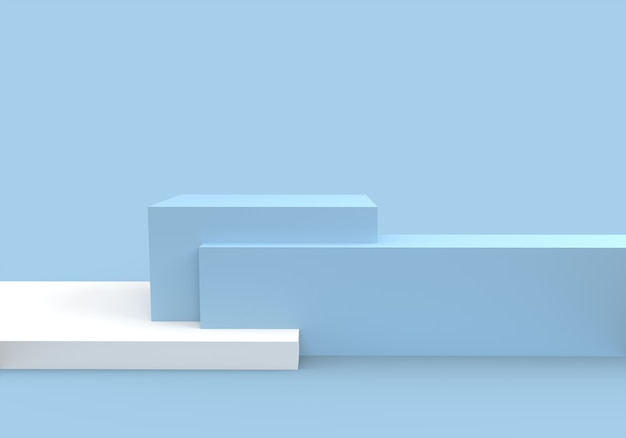 Podium in abstract blue composition