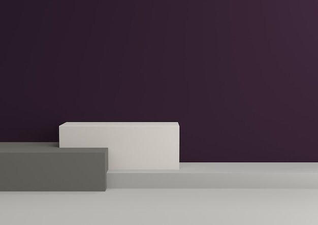 Podium in abstract fit for royalty relaxing color schemes, 3d render.