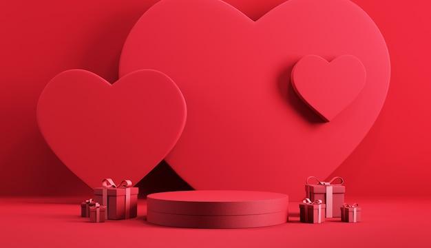 バレンタインの表彰台の背景。