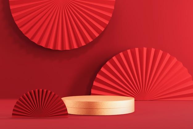 Podium display for chinese new year