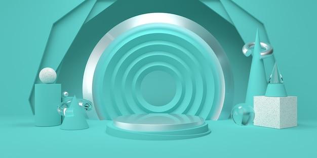 Podium and geometric shapes