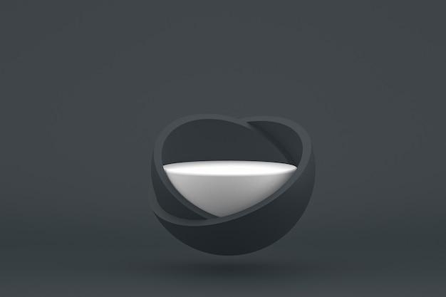 Подиум минимальный на черном фоне для презентации косметической продукции