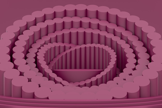 Подиум минимальный на фиолетовом фоне для презентации косметической продукции