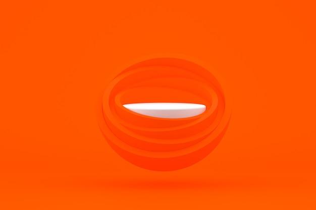 Подиум минимальный на красном фоне для презентации косметической продукции
