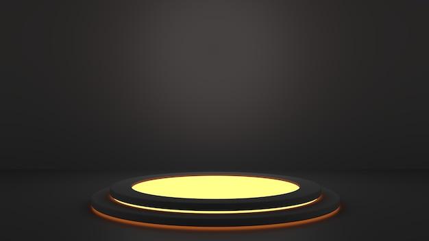 게임 및 기술 개념이 포함된 제품 디스플레이 연단 컬러 네온 조명 받침대