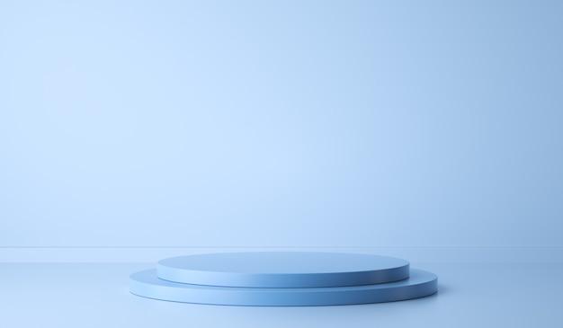 Подиум на синем для презентации продукта d рендеринга