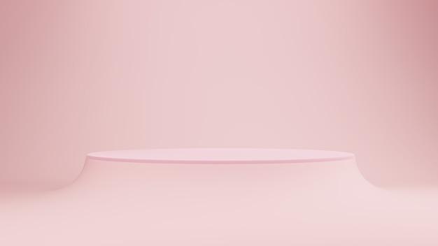 연단 또는 무대 핑크 파스텔 배경.