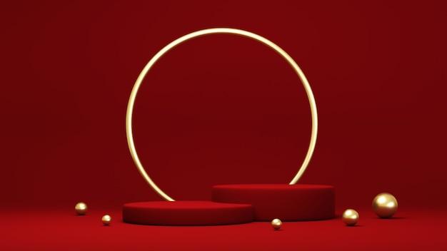 Подиум, пьедестал или площадка, фон для презентации косметической продукции