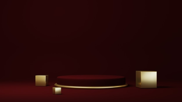 Podium, pedestal or platform, background for the presentation of cosmetic products