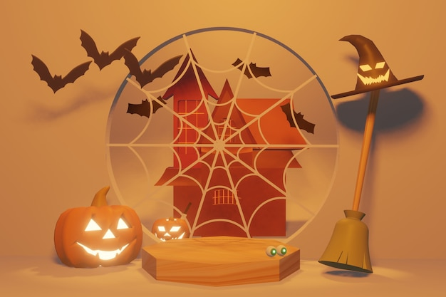 Podium product of halloween festival and autumn