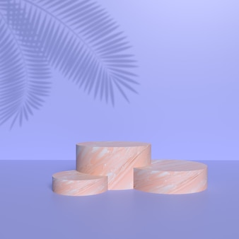 Podium for product placement with ceramic texture