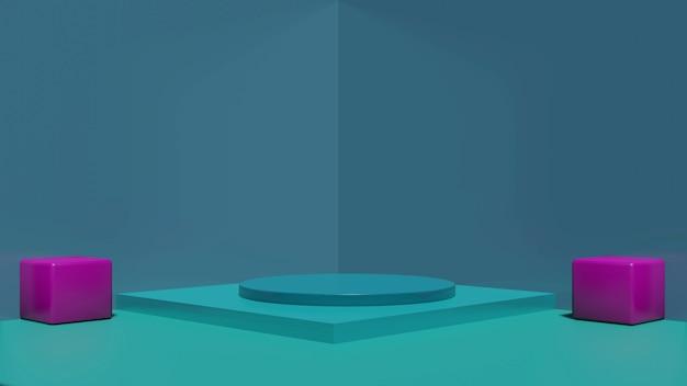 Подиум, сцена 3d зеленый фон, абстрактный стиль текстуры, может использоваться в дизайне обложки, дизайне книги, плакате, флаере, фоне веб-сайта или рекламе.