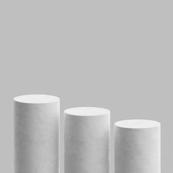 연단 무대 스탠드 콘크리트 흰색