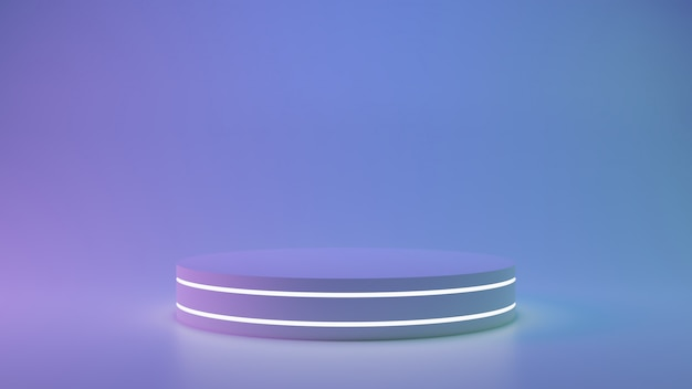 Подиум стенд. пустое место для выставки дизайна продукта.