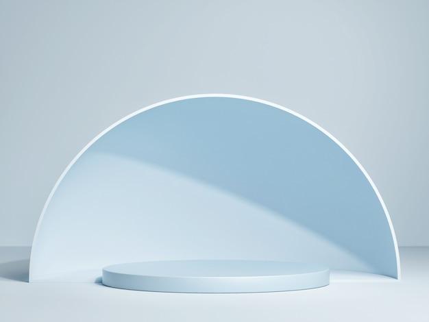제품 프리젠 테이션을위한 추상 돔이있는 연단.
