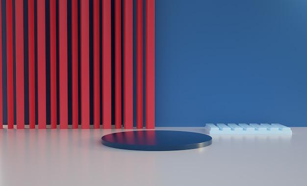 Подиум с занавеской 3d модель