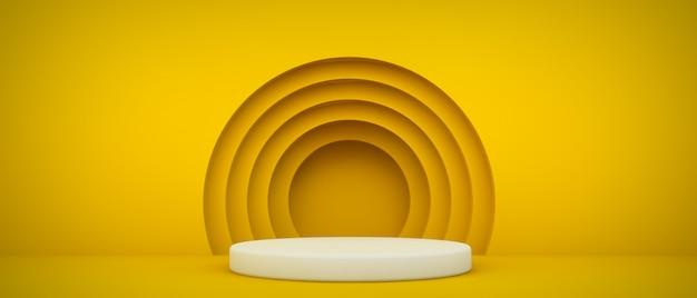 Podium yellow background