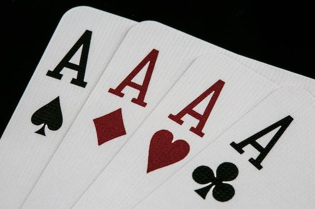 Poker of aces. poker casino playing cards