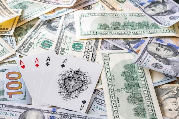 Покерные карты на доллары