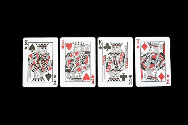 Poker casino playing cards.kings