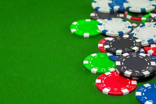 Poker chips on the table