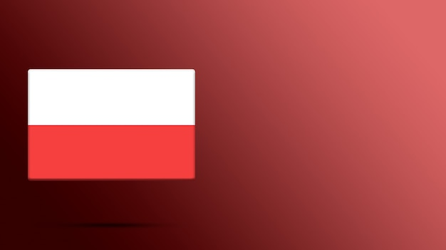 現実的なプラットフォーム上のポーランドの旗