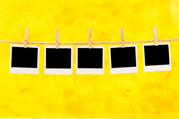 Фотографии в стиле polaroid на строку