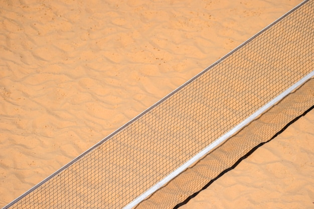 Pole aerial image of a beach volleyball court
