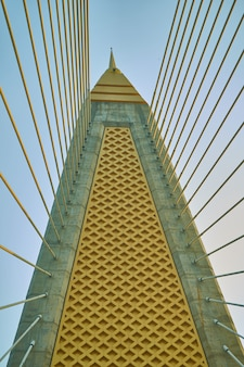 Pole of hang sling of suspension bridge