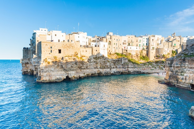 Polignano a mare, beautiful town on seaside in southern italy